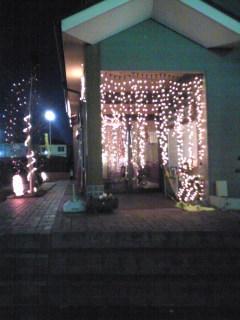 狭山某所自治会館のクリスマスイルミ
