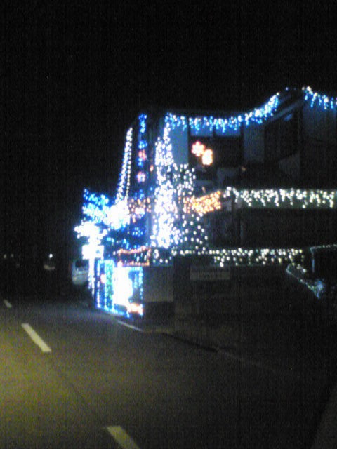 クリスマスイルミネーション戸建