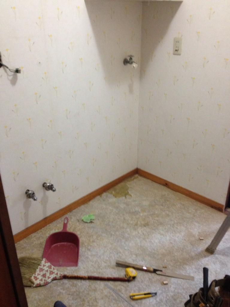洗面室も内装仕上げ