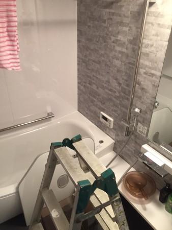完工?クレイドル浴槽のtotoリモデルバス1418