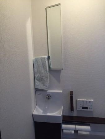 実はしくじったトイレの鏡