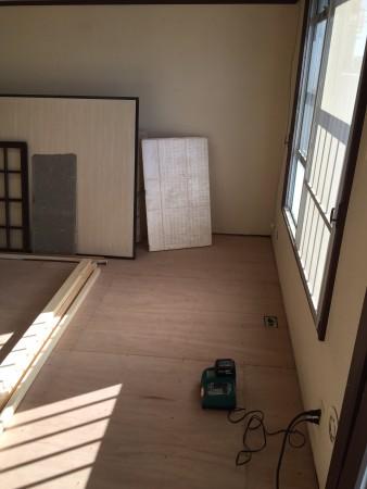 マンションの和室べニア下地完了