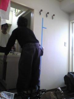 既存の洗面台ですが内装が終わったので再設置