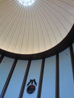 最上階のドーム天井