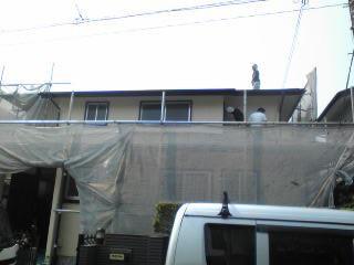 外壁塗装始まりました